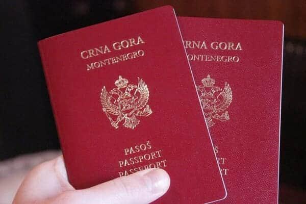 паспорта Черногории