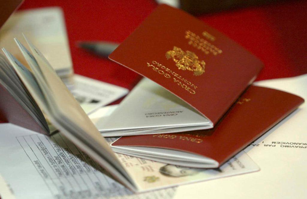 паспорт Черногории и прочие документы