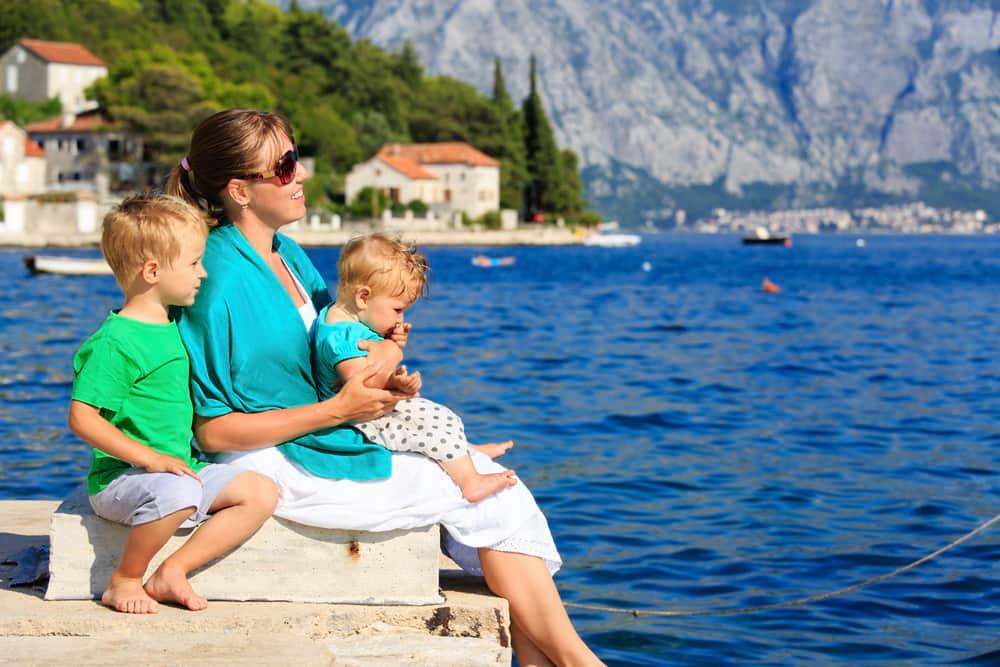 семья в Черногории