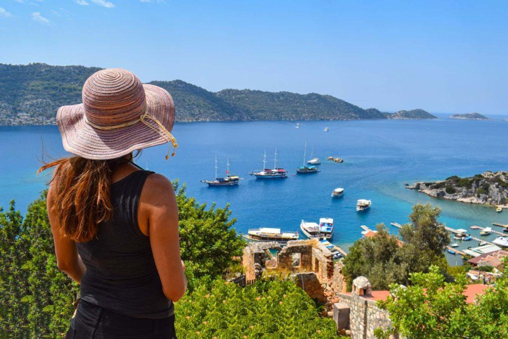 Туристка в Турции