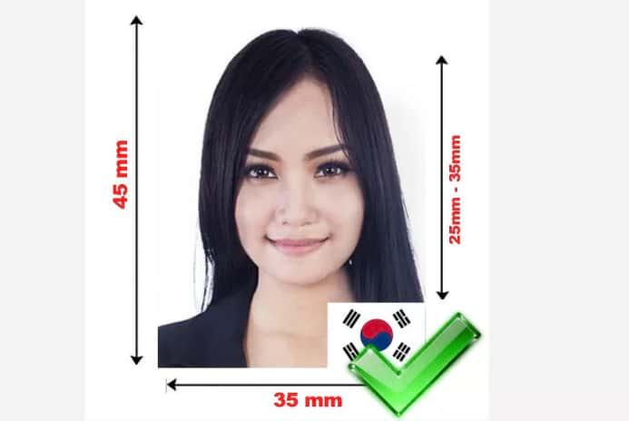 Фотография на визу в Корею